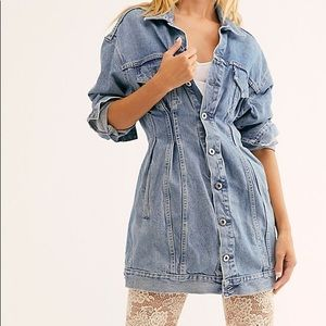 New Levi's Denim Trucker jacket Dress $348